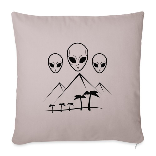 Pyramides & Extraterrestres - Housse de coussin décorative 45x 45cm