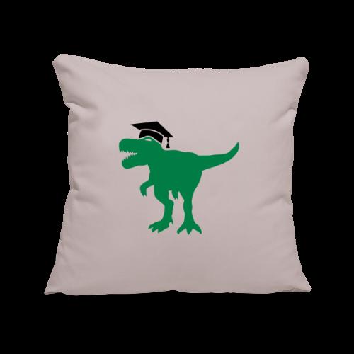 Dinosaurier Doktorhut Promotion Dissertation - Sofakissenbezug 44 x 44 cm