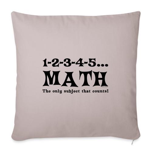 Black Math Counts - Sofa pillowcase 17,3'' x 17,3'' (45 x 45 cm)