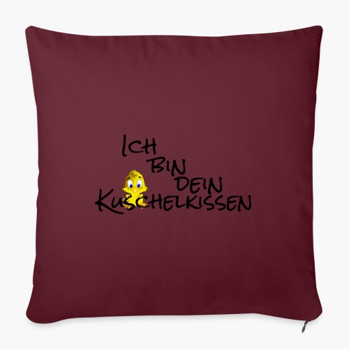 Ich bin dein Kuschelkissen (Schriftzug Schwarz) - Sofakissenbezug 44 x 44 cm