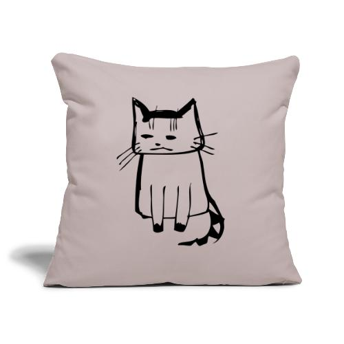 cat drawings on t shirt - Sofakissenbezug 44 x 44 cm
