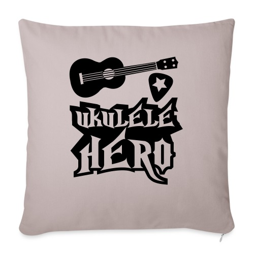 Ukelele Hero - Sofa pillowcase 17,3'' x 17,3'' (45 x 45 cm)