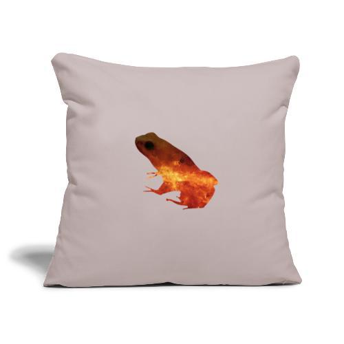 rana a doppia esposizione - Copricuscino per divano, 45 x 45 cm