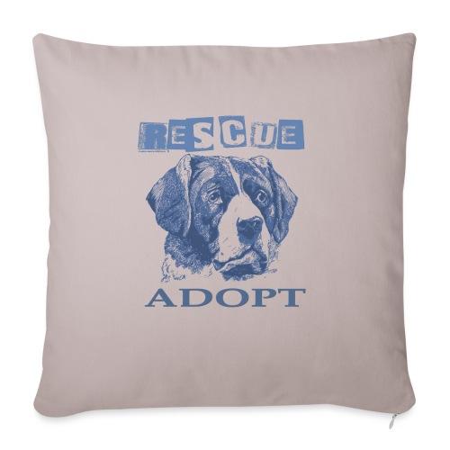Rescue adopt - Funda de cojín, 45 x 45 cm
