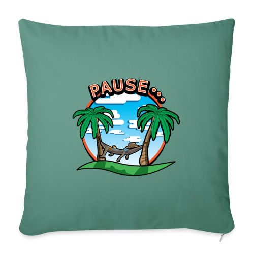 PAUSE ...... - Housse de coussin décorative 45x 45cm