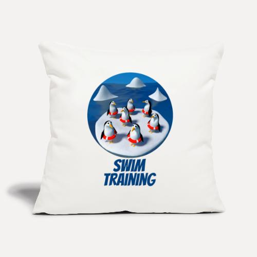 Pinguine beim Schwimmunterricht - Sofa pillowcase 17,3'' x 17,3'' (45 x 45 cm)