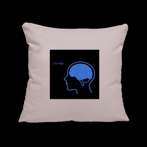 Knowledge - Sofa pillowcase 17,3'' x 17,3'' (45 x 45 cm)
