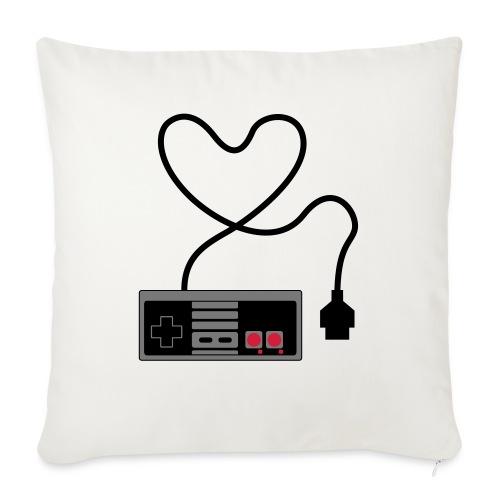 NES Controller Heart - Sofa pillowcase 17,3'' x 17,3'' (45 x 45 cm)