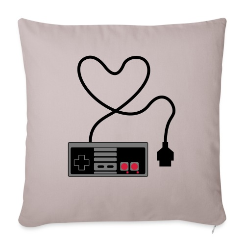 NES Controller Heart - Sofa pillowcase 17,3'' x 17,3'' (45 x 45 cm)