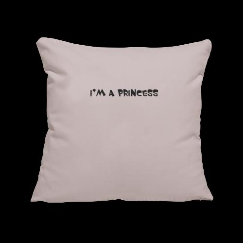 im a princess schwarz - Copricuscino per divano, 45 x 45 cm