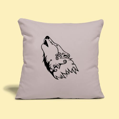 Le Loup de Neved (version traits) - Housse de coussin décorative 45 x 45 cm