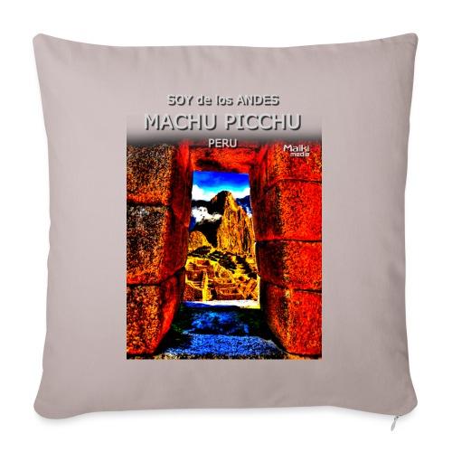 SOY de los ANDES - Machu Picchu II - Sofa pillowcase 17,3'' x 17,3'' (45 x 45 cm)