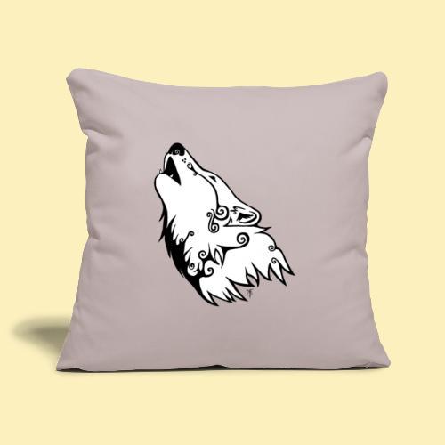 Le Loup de Neved (version blanche) - Housse de coussin décorative 45x 45cm