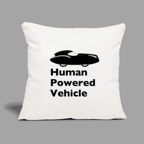 Quattrovelo Human Powered Vehicle black - Sohvatyynyn päällinen 45 x 45 cm