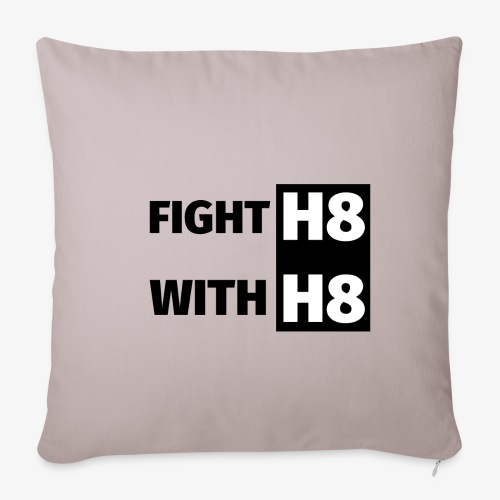 FIGHTH8 dark - Sofa pillowcase 17,3'' x 17,3'' (45 x 45 cm)