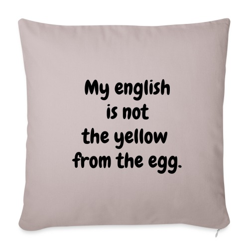My english is not the yellow from the egg. - Sofakissenbezug 44 x 44 cm