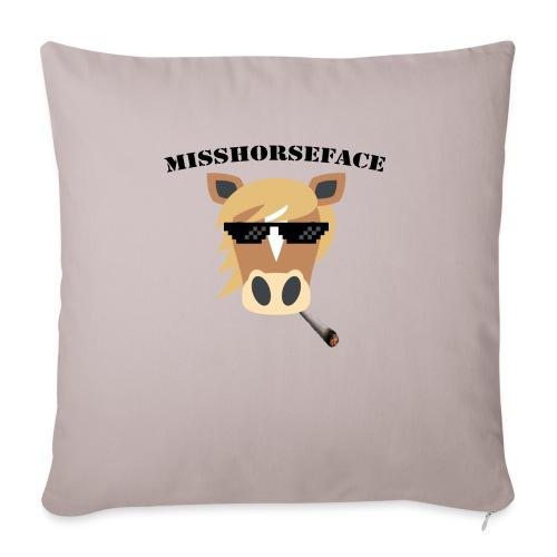 MissHorseface - Sierkussenhoes, 45 x 45 cm