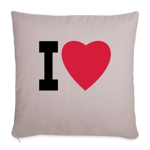create your own I LOVE clothing and stuff - Sofa pillowcase 17,3'' x 17,3'' (45 x 45 cm)