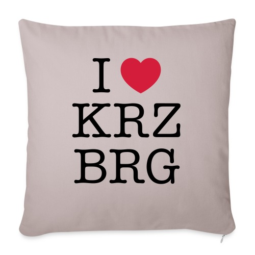 I love KRZBRG - Sofakissenbezug 44 x 44 cm
