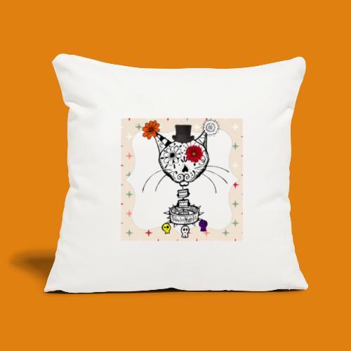 cat color - Sofa pillowcase 17,3'' x 17,3'' (45 x 45 cm)