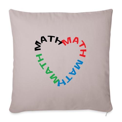 Math Text Heart - Sofa pillowcase 17,3'' x 17,3'' (45 x 45 cm)