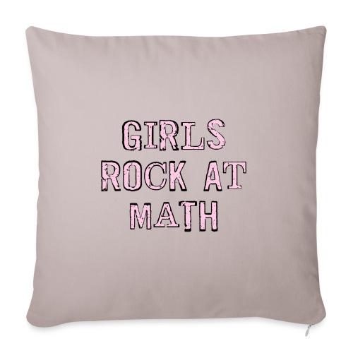 Girls Rock At Math - Sofa pillowcase 17,3'' x 17,3'' (45 x 45 cm)