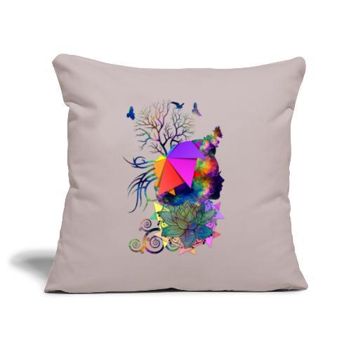 Lady Colors by T-shirt chic et choc - Housse de coussin décorative 45x 45cm