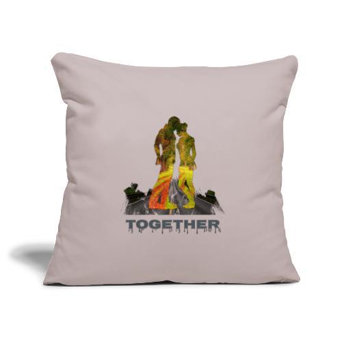 Together - Housse de coussin décorative 45x 45cm