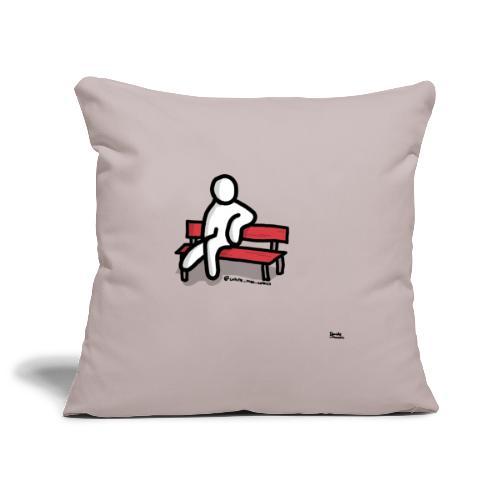 white man seduto - Copricuscino per divano, 45 x 45 cm