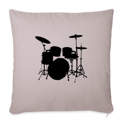 Drums in black - Funda de cojín, 45 x 45 cm