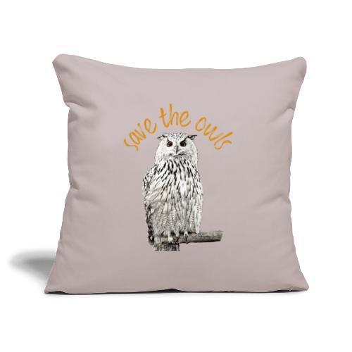Snowy Owl Save the Owls Photo Art - Sofa pillowcase 17,3'' x 17,3'' (45 x 45 cm)