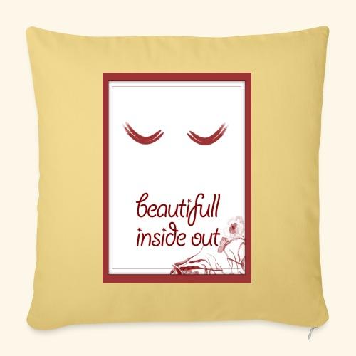 beautiful inside out - Sofa pillowcase 17,3'' x 17,3'' (45 x 45 cm)