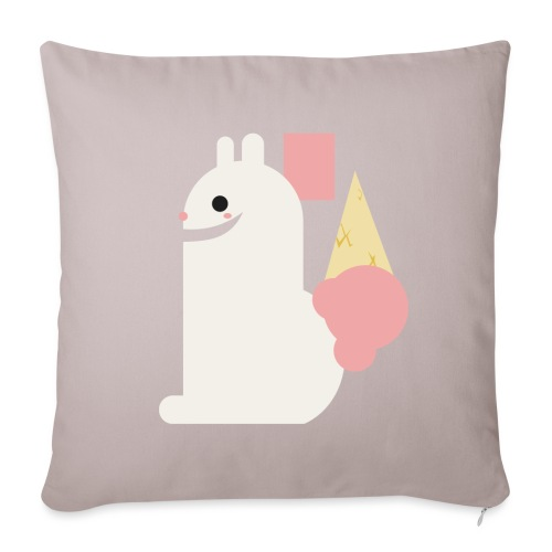 Ice cream bunny - Sofa pillowcase 17,3'' x 17,3'' (45 x 45 cm)