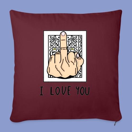 I LOVE YOU - Copricuscino per divano, 45 x 45 cm