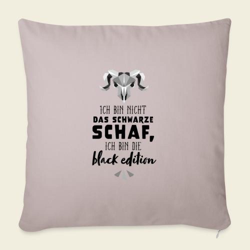Schwarzes Schaf - white edition - Sofakissenbezug 44 x 44 cm