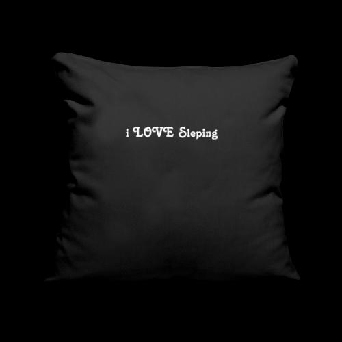 i love sleeping weiss - Copricuscino per divano, 45 x 45 cm