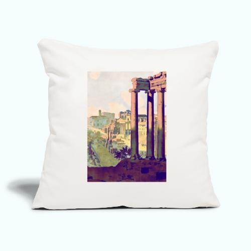 Rome Vintage Travel Poster - Sofa pillowcase 17,3'' x 17,3'' (45 x 45 cm)