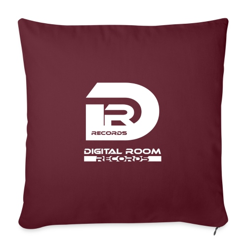 Digital Room Records Official Logo white - Sofa pillowcase 17,3'' x 17,3'' (45 x 45 cm)