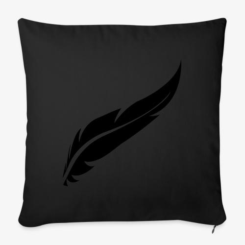 logo plume black - Housse de coussin décorative 45x 45cm