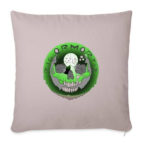 Rigormortiz Metallic Green Design - Sofa pillowcase 17,3'' x 17,3'' (45 x 45 cm)