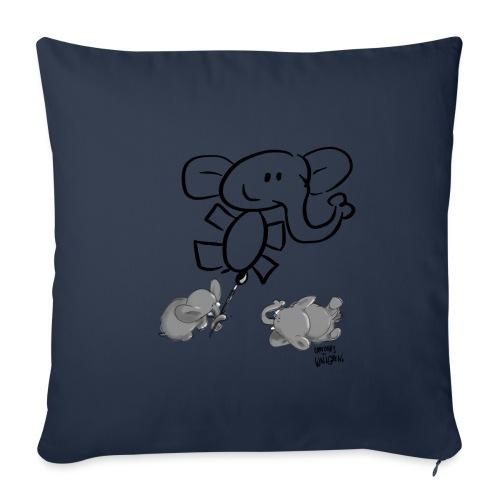 When elephants paints elephants light - Soffkuddsöverdrag, 45 x 45 cm