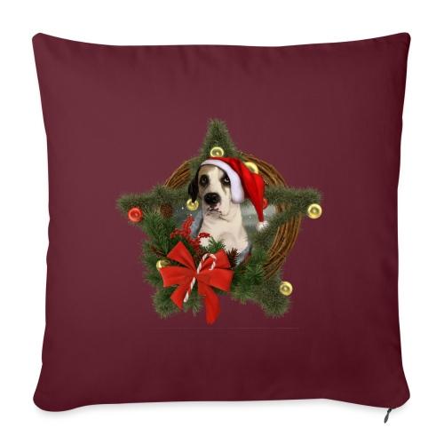 Christmas Dog - Copricuscino per divano, 45 x 45 cm