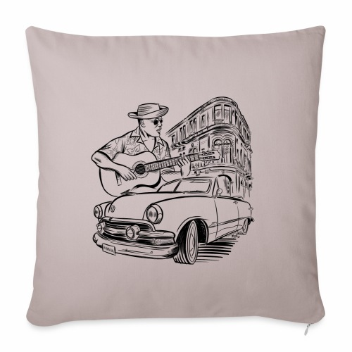 Cuba Havana Dodge Textiles and Gifts for You - Sohvatyynyn päällinen 45 x 45 cm