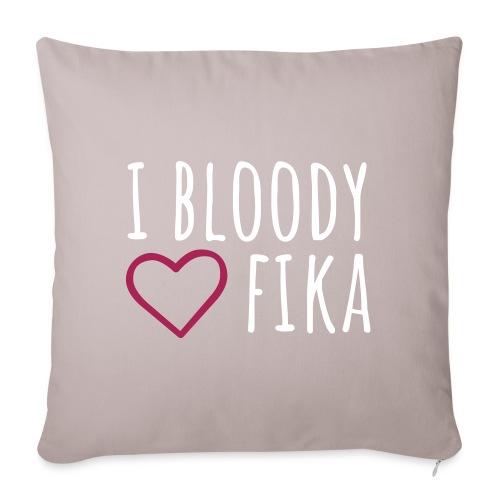 I bloody love fika - with editable colors - Sohvatyynyn päällinen 45 x 45 cm