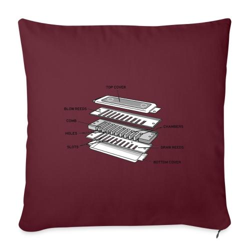 Exploded harmonica - black text - Sofa pillowcase 17,3'' x 17,3'' (45 x 45 cm)