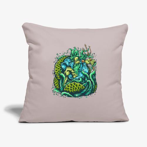 Dieu de la mer - Housse de coussin décorative 45x 45cm