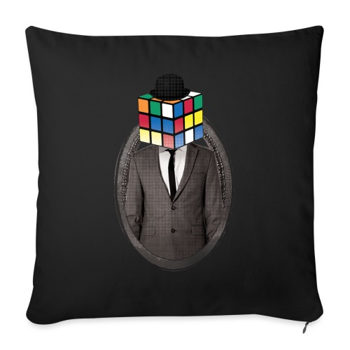 Rubik's Cube Portrait - Sofa pillowcase 17,3'' x 17,3'' (45 x 45 cm)