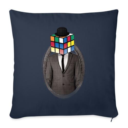 Rubik's Cube Portrait - Sofa pillowcase 17,3'' x 17,3'' (45 x 45 cm)