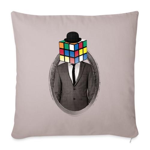 Rubik's Cube Portrait - Soffkuddsöverdrag, 45 x 45 cm