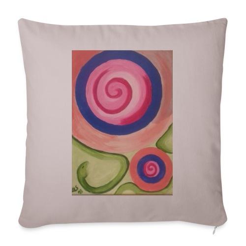 spirale con serpente - Copricuscino per divano, 45 x 45 cm